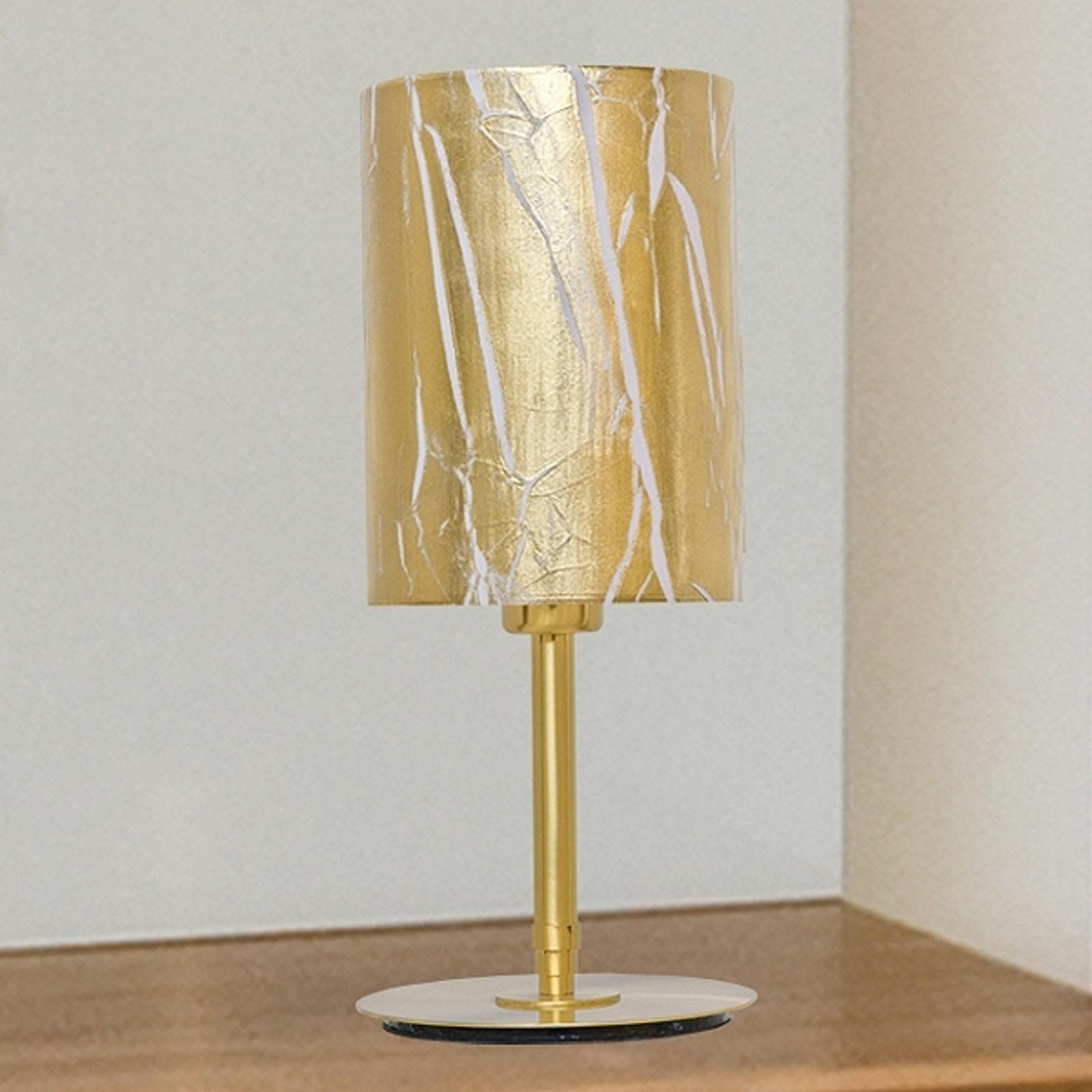 Lampada da tavolo Strapo con pellicola oro
