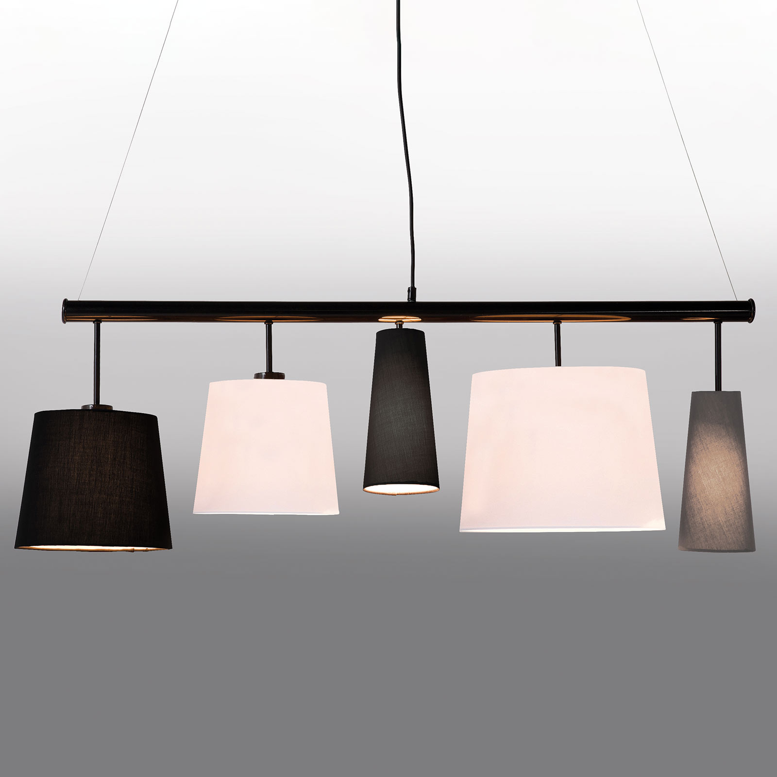 KARE Parecchi lampa wisząca, 100 cm, czarna