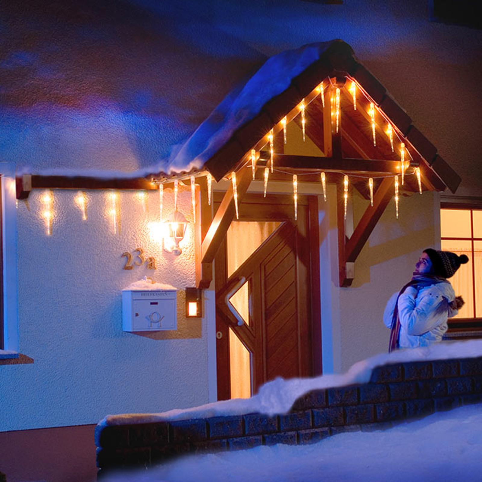 Zasłona świetlna LED sopel lodu 16 sopli 3,75 m