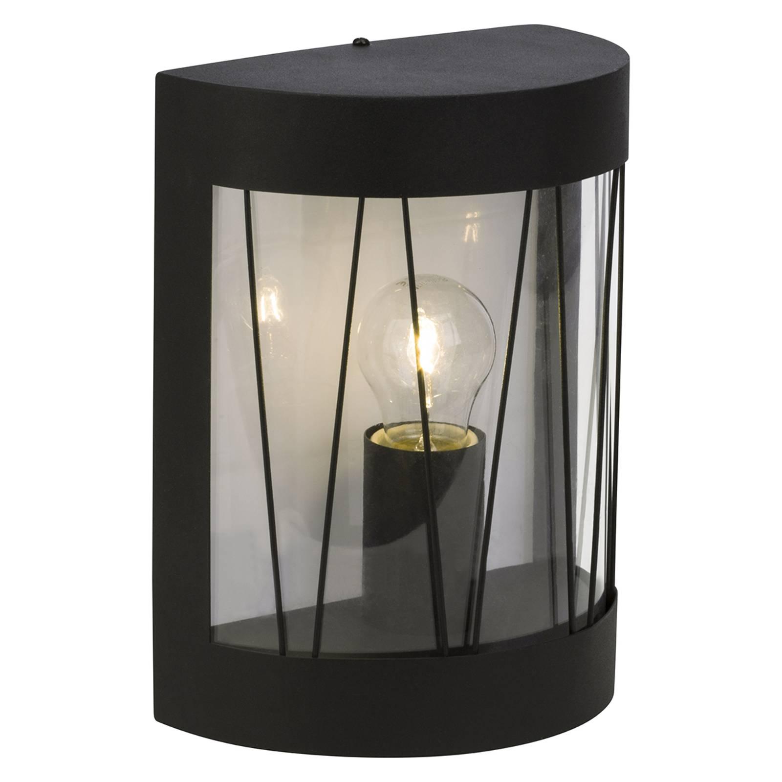 Halfronde buitenwandlamp Reed in zwart
