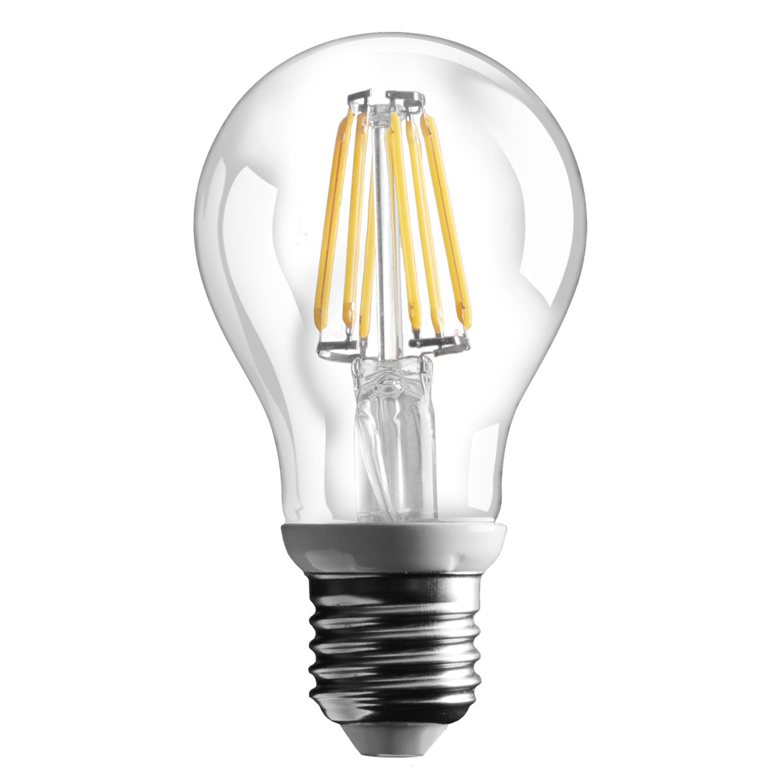 E27 6W LED-filamentpære med 800lm - varm hvid