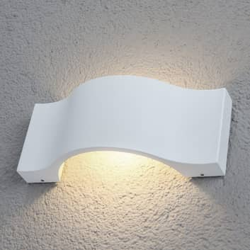 Effektfull LED-utomhusvägglampa Jace, vit