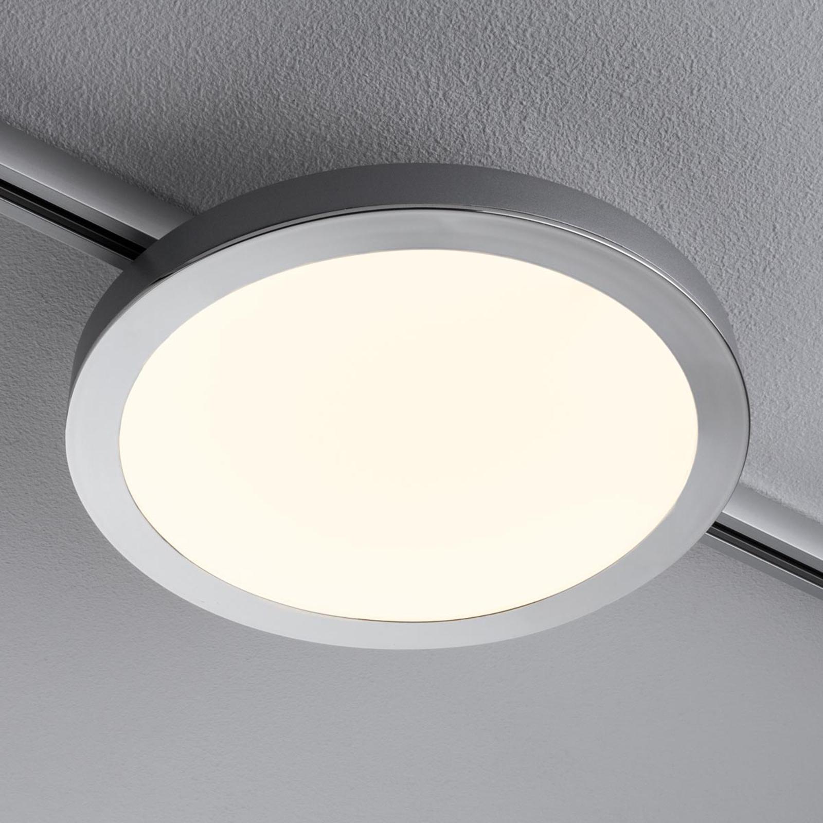 Paulmann URail Spin LED-panel i matt krom