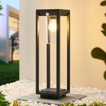 Lindby Abilum lampioncino, grigio scuro, 50 cm