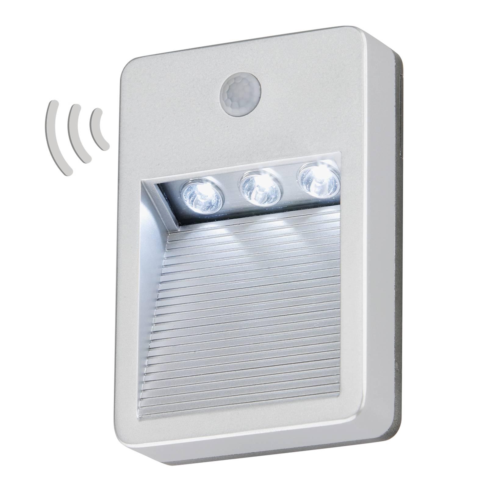 Batterijbediende LED buitenwandlamp Lero m. sensor