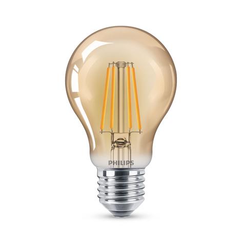 Philips ampoule LED filament E27 A60 4W 2500K