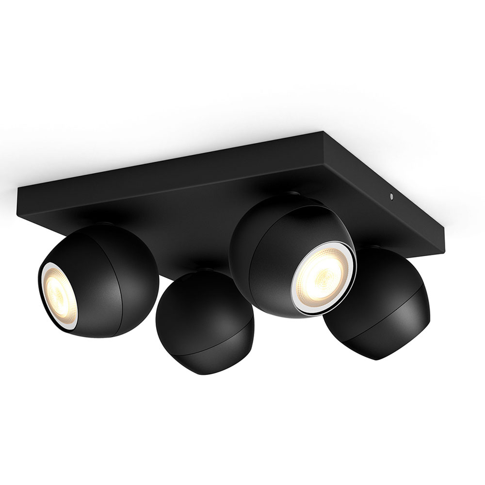 Acquista Philips Hue Buckram 4 luci dimmer nero