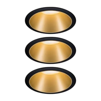 Paulmann Cole spot LEDlight in ottica oro, set 3x