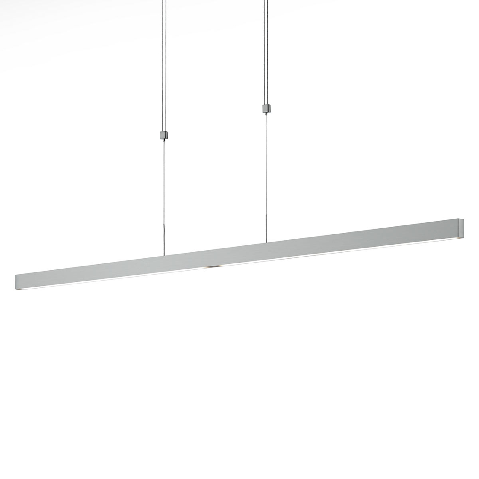 Suspension LED Pia capteur geste nickel mat 128 cm