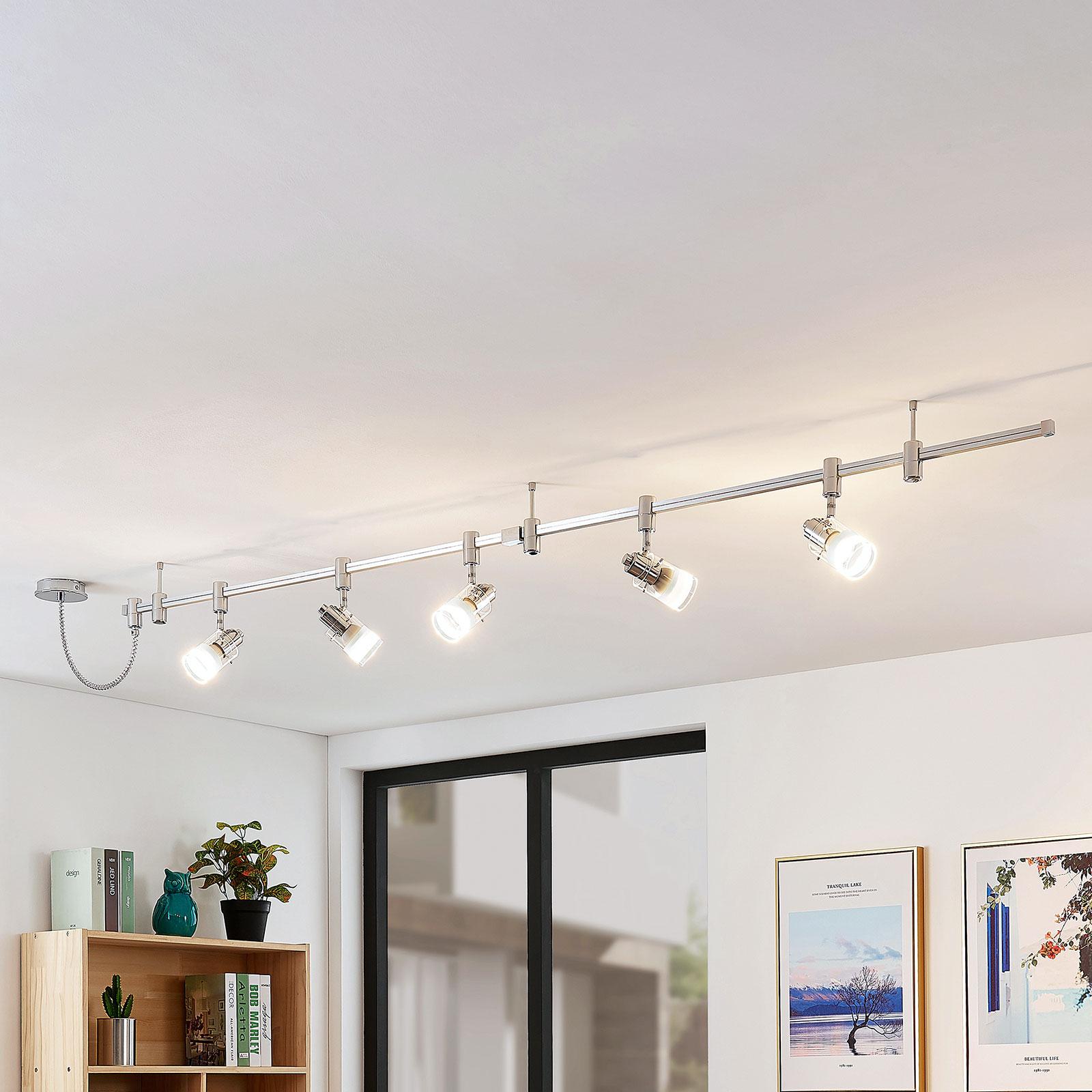 Riel de iluminación LED alto voltaje Narelia, GU10