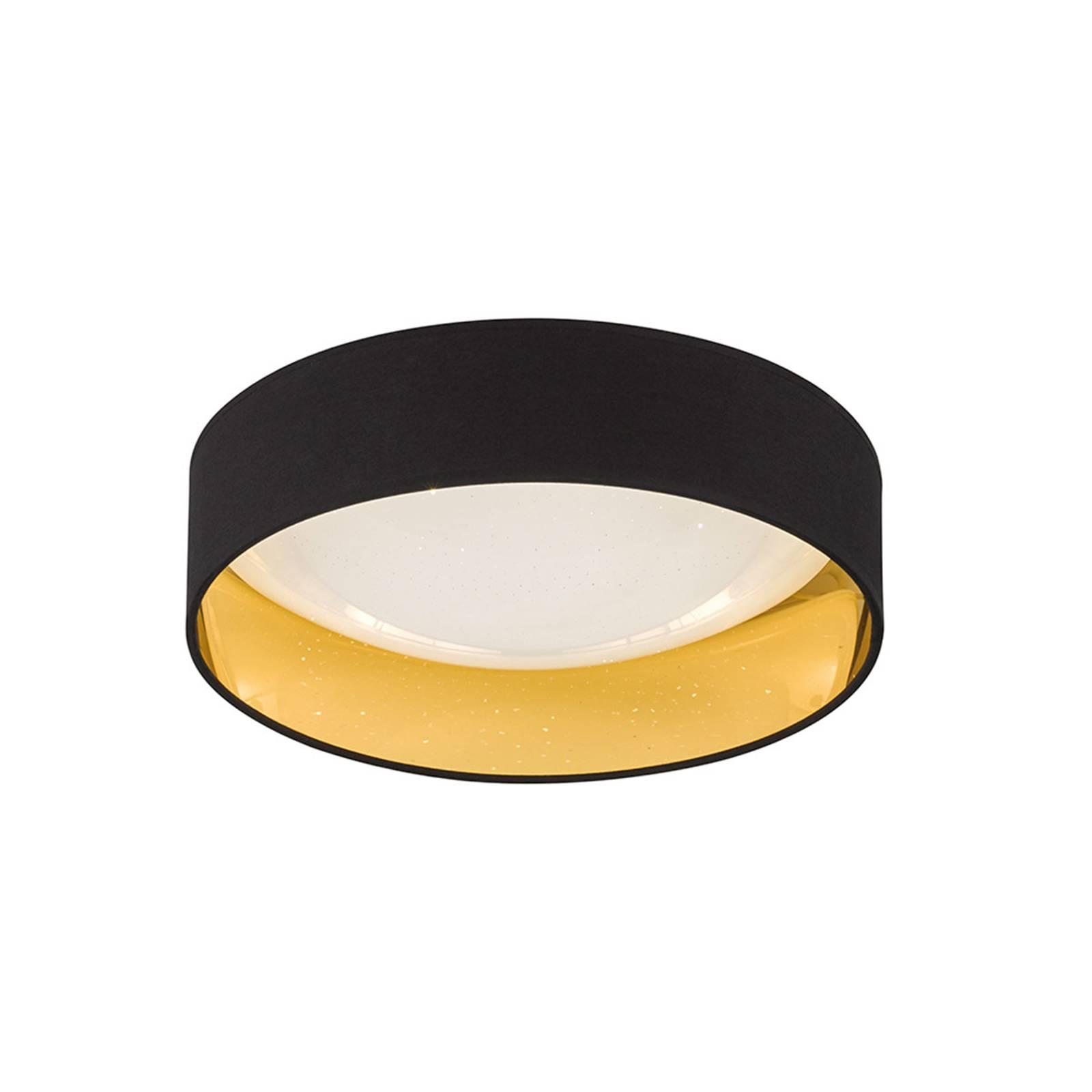 Schwarz-goldene LED-Deckenleuchte Sete Ø 40 cm