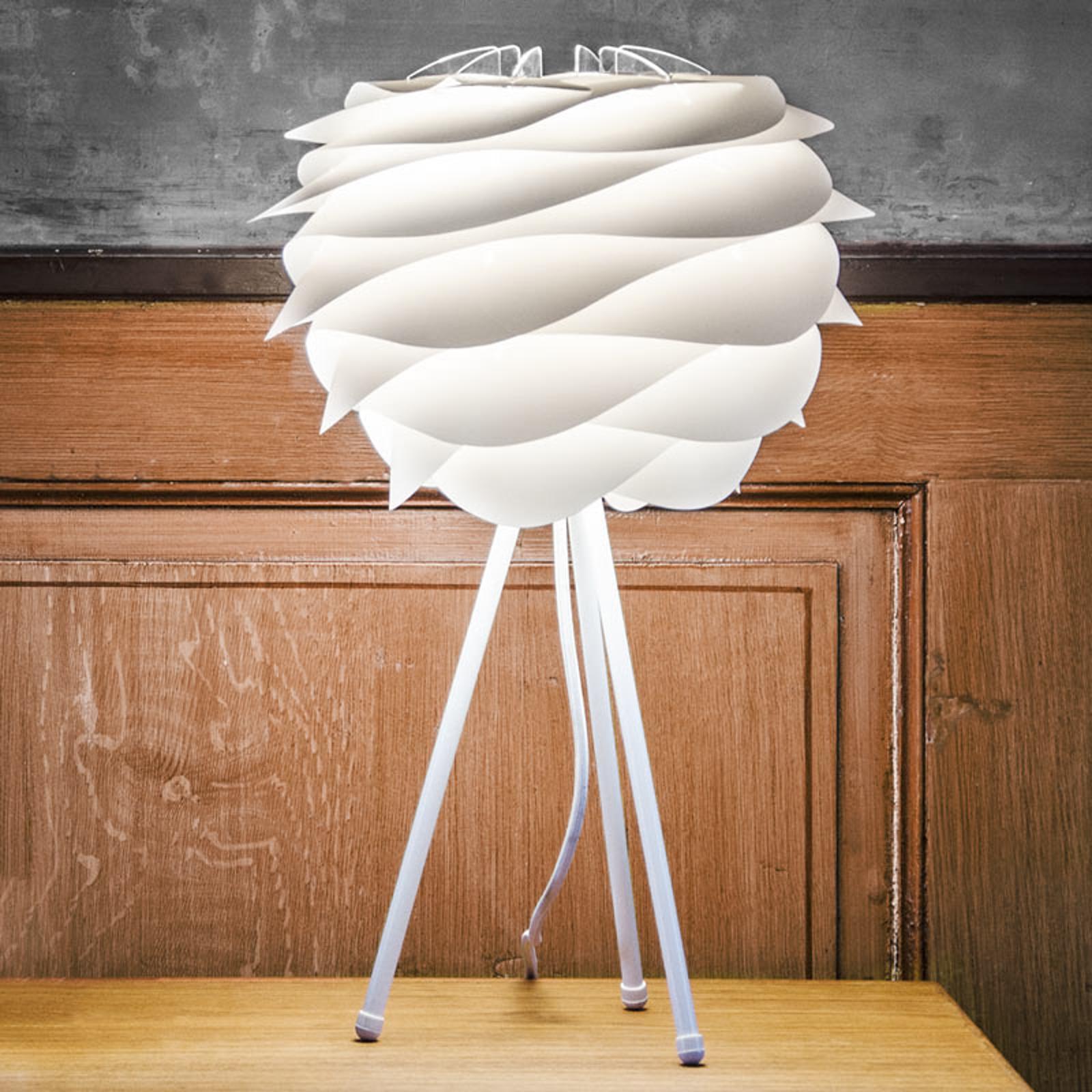 Biała lampa stołowa Carmina z trójnogiem
