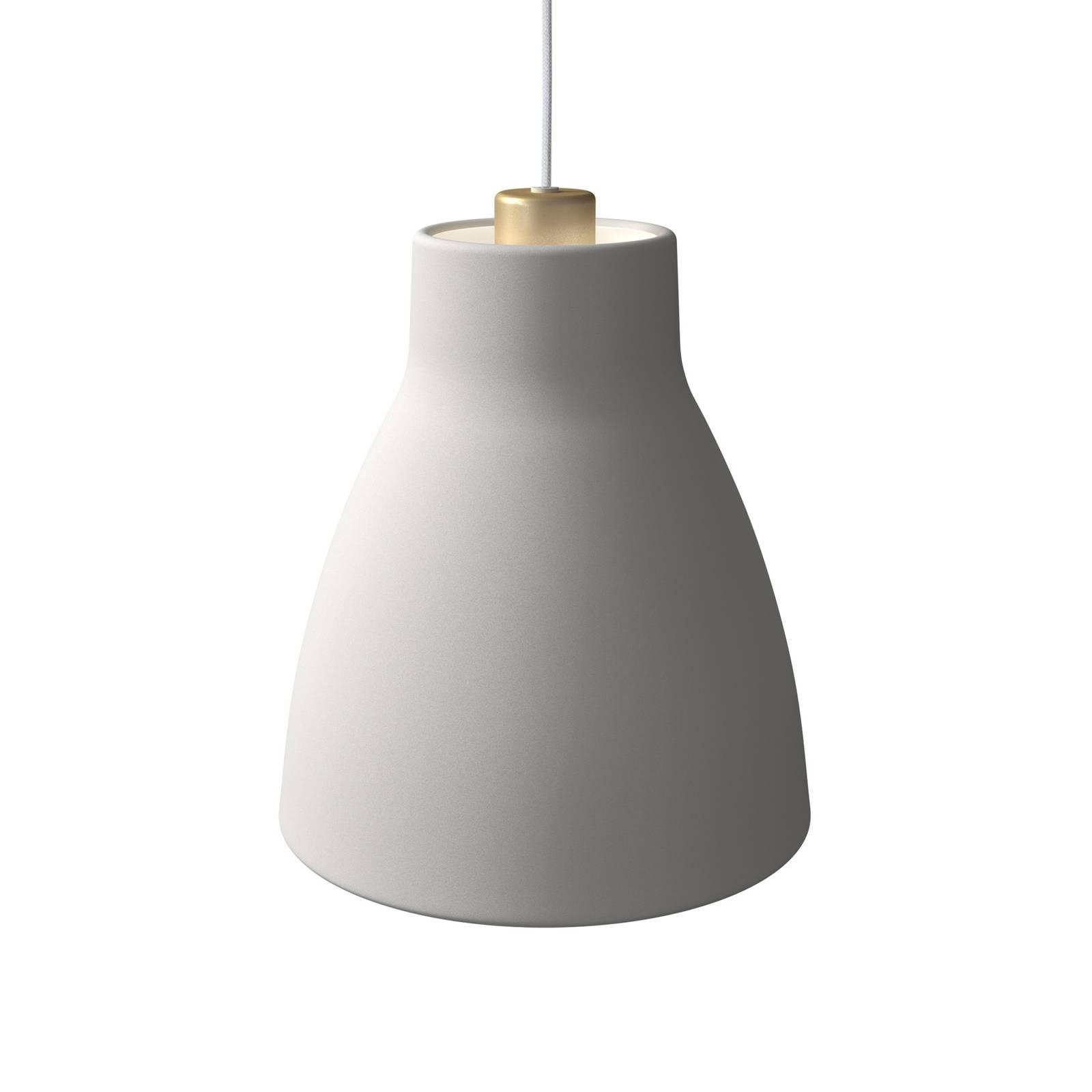 Pendelleuchte Gong, Ø 25 cm, weiß