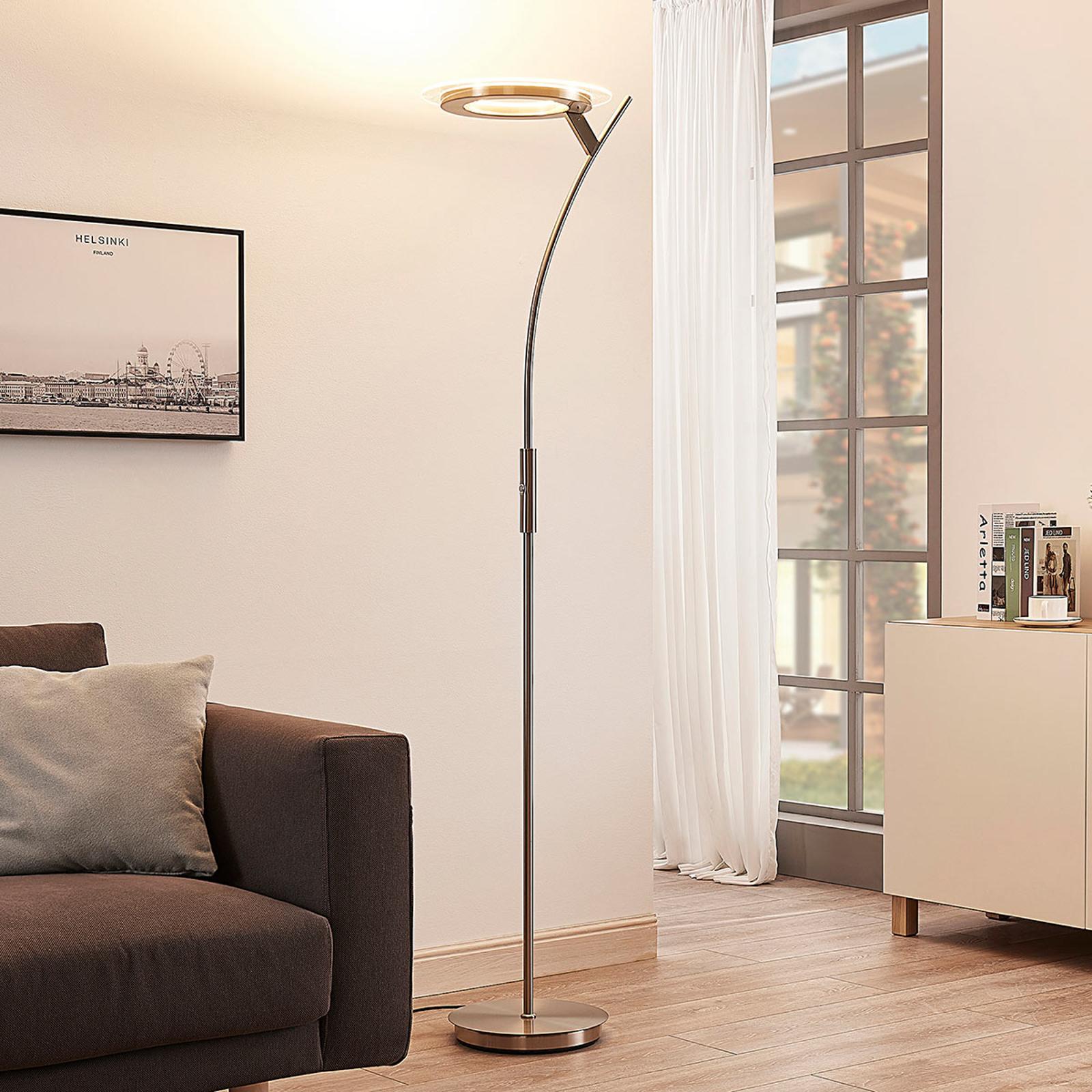 Lyssterk LED-uplight Darion med dimmer