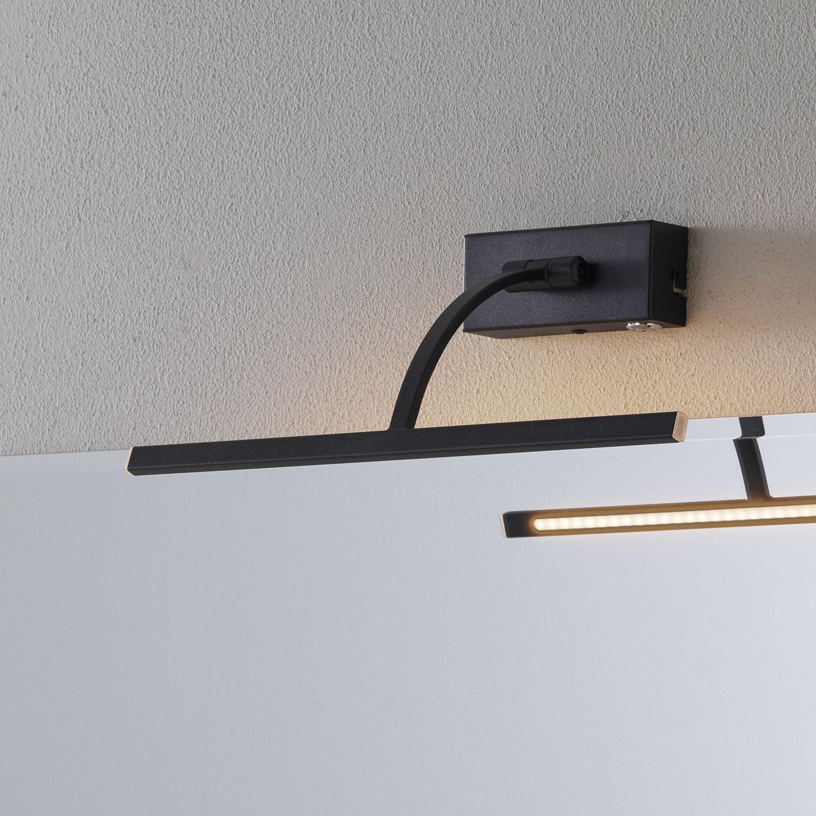 LED-vegglampe Matisse, bredde 34 cm, svart