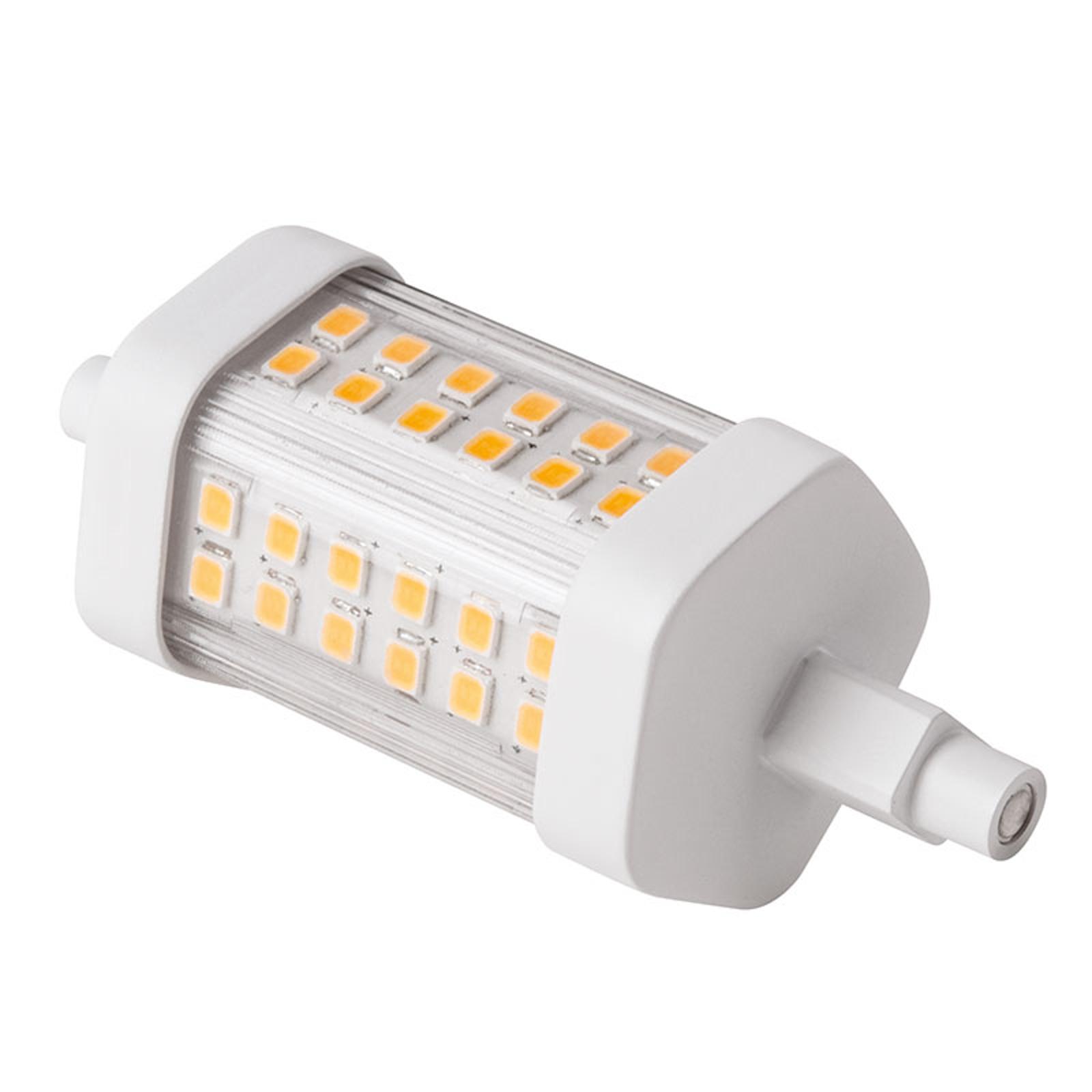 Tube LED R7s 78mm 8W blanc chaud