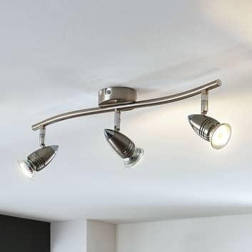 LED-takspotlight Benina, 3 lampor, avlång