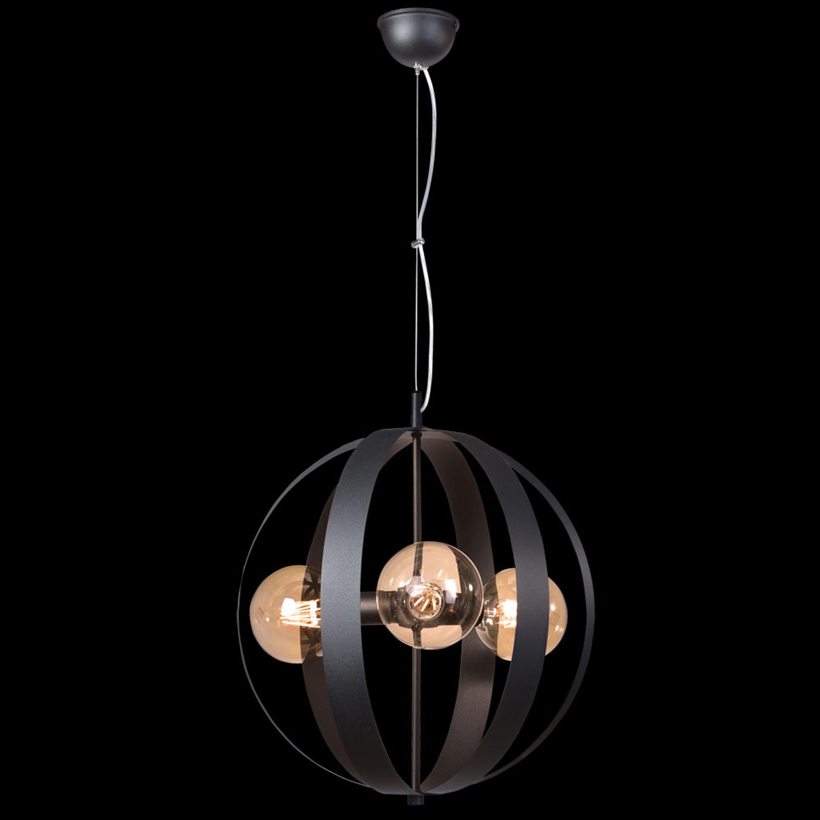 Lampa wisząca Livia, 3-punktowa, czarna