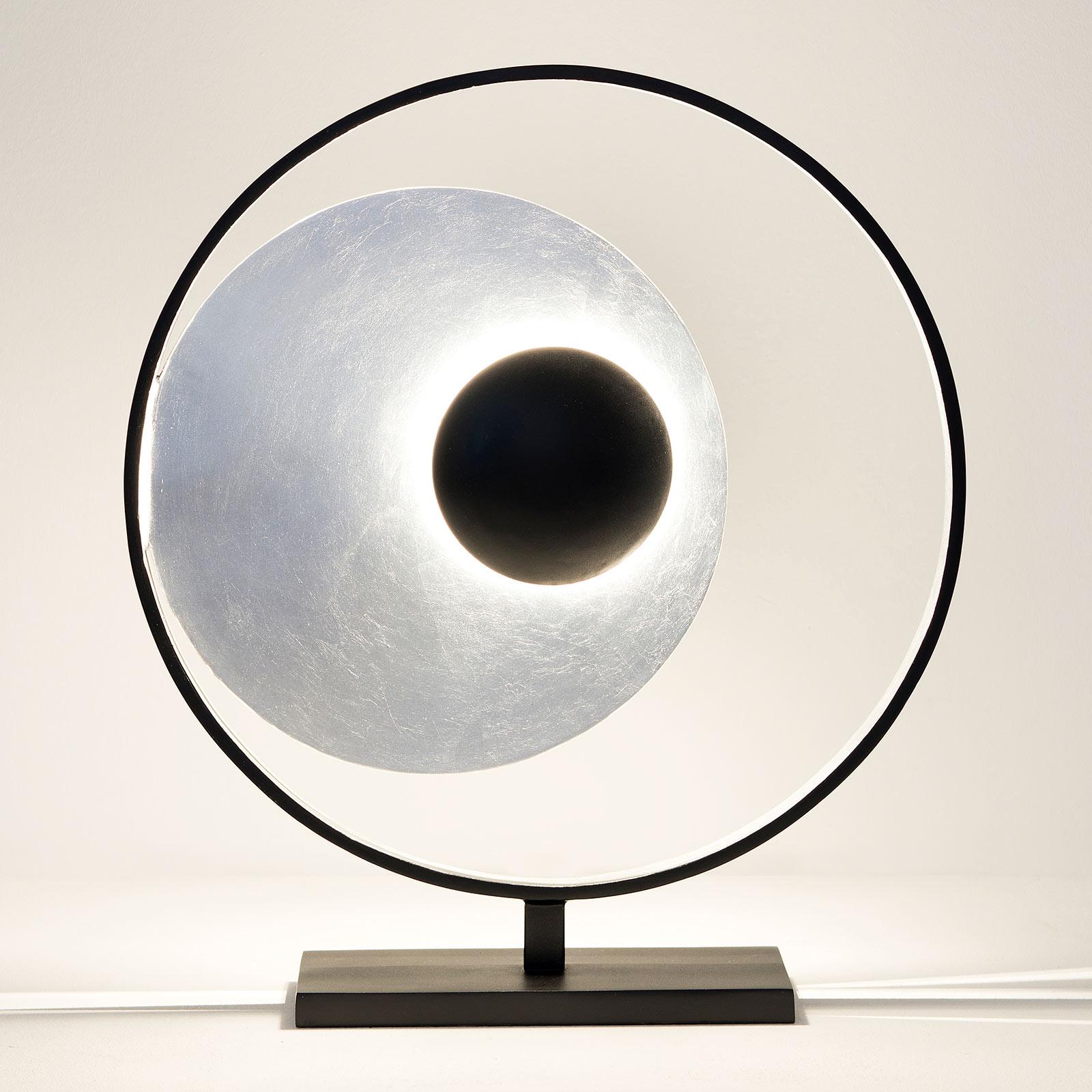 Lampe à poser Satellite en argenté-noir 58cm