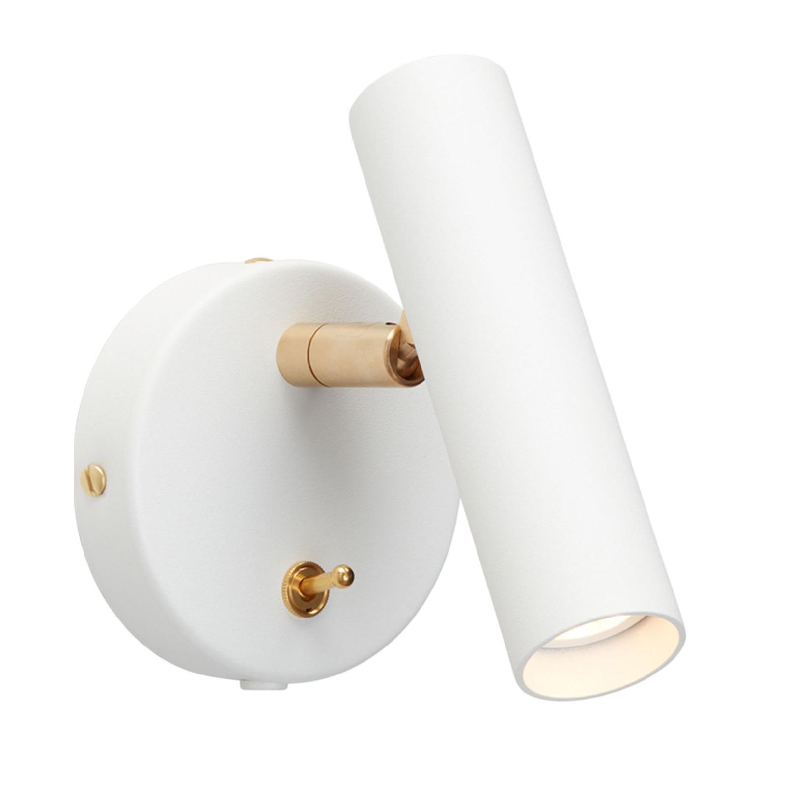 Slender LED-væglampe, hvid