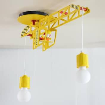 Dziecięca lampa sufitowa Bodo w kształcie dźwigu