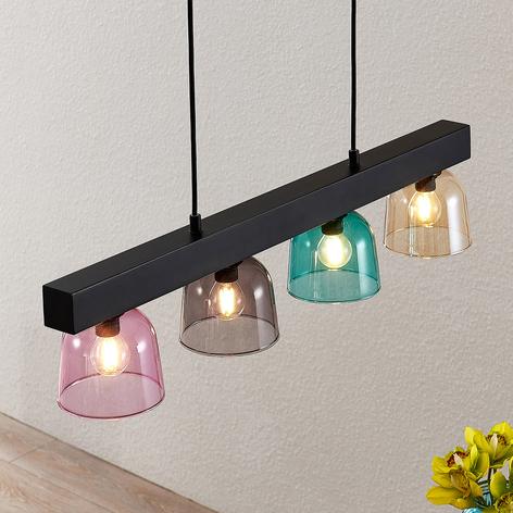 Lindby Watan lámpara colgante, pantallas colores