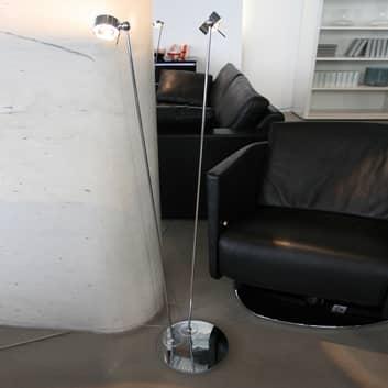 Bevegelig stålampe PUK FLOOR krom matt