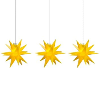 Ghirlanda luminosa stelle interni, 3 luci