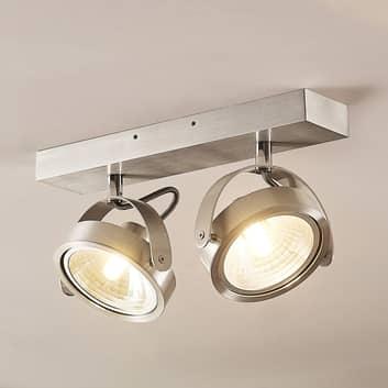 ELC Mitella stropní světlo, dvoužárovkové, hliník