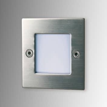 Vierkante led-inbouwlamp Lis