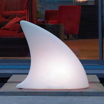LED-dekorlampe Shark Outdoor med fargeveksling