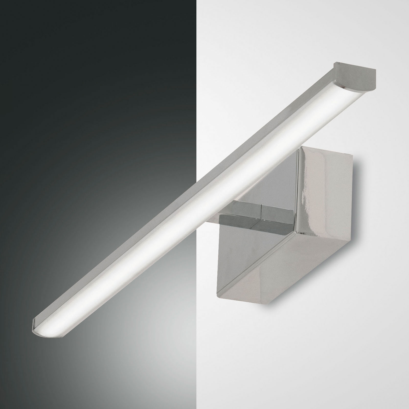LED wandlamp Nala, chroom, breedte 50 cm