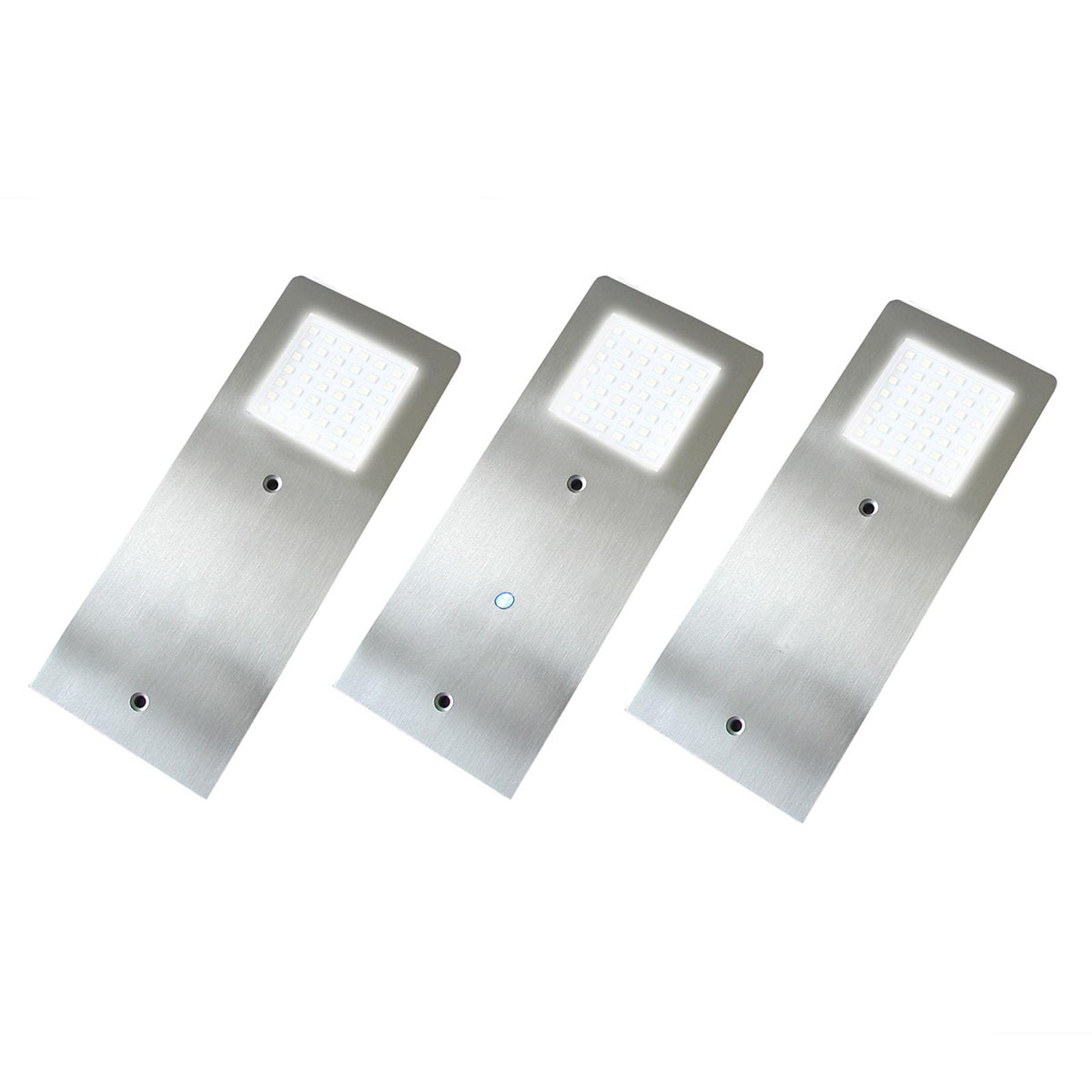 Ultraflache LED-Unterbauleuchte Alustar 3er Set