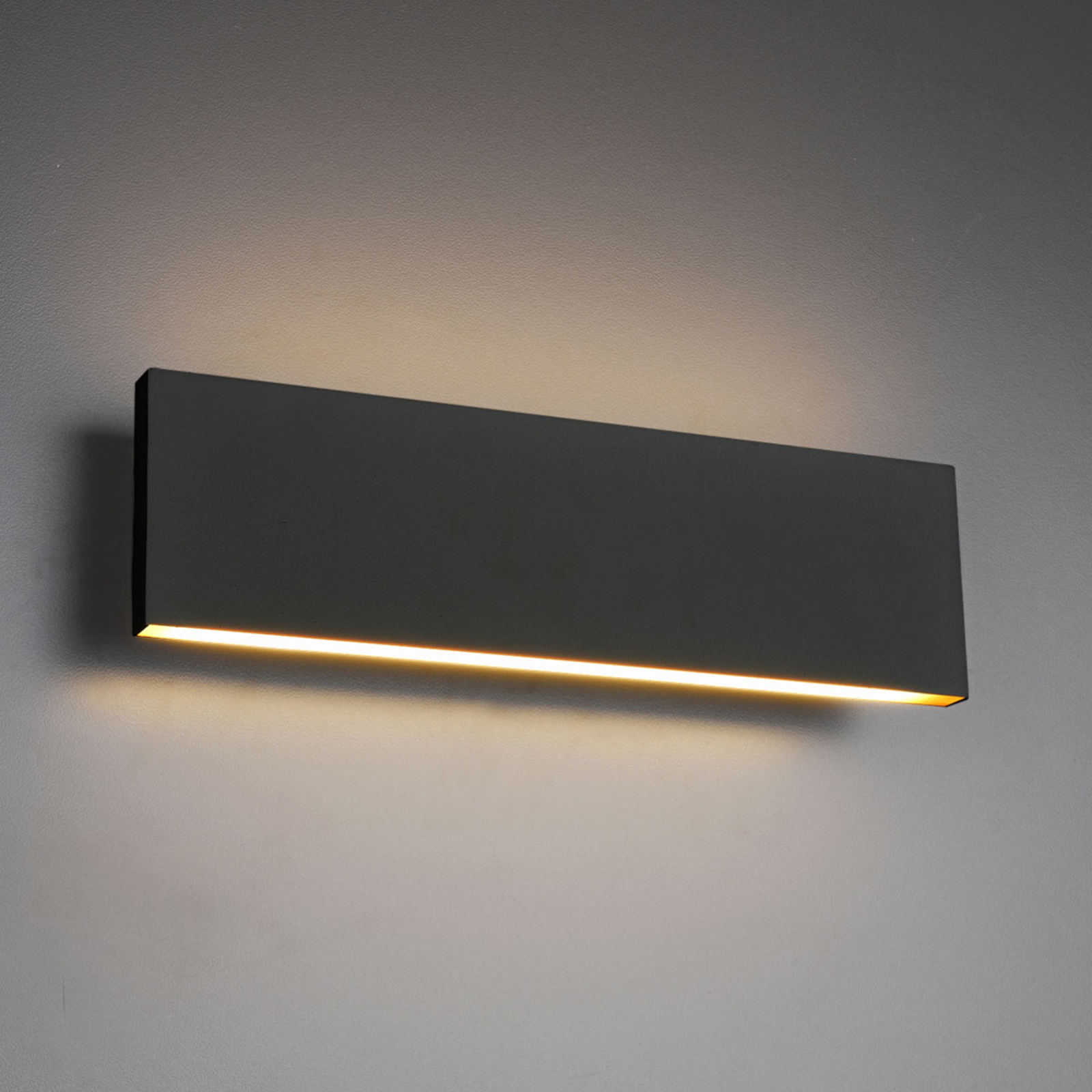LED wandlamp Concha 28 cm, antraciet