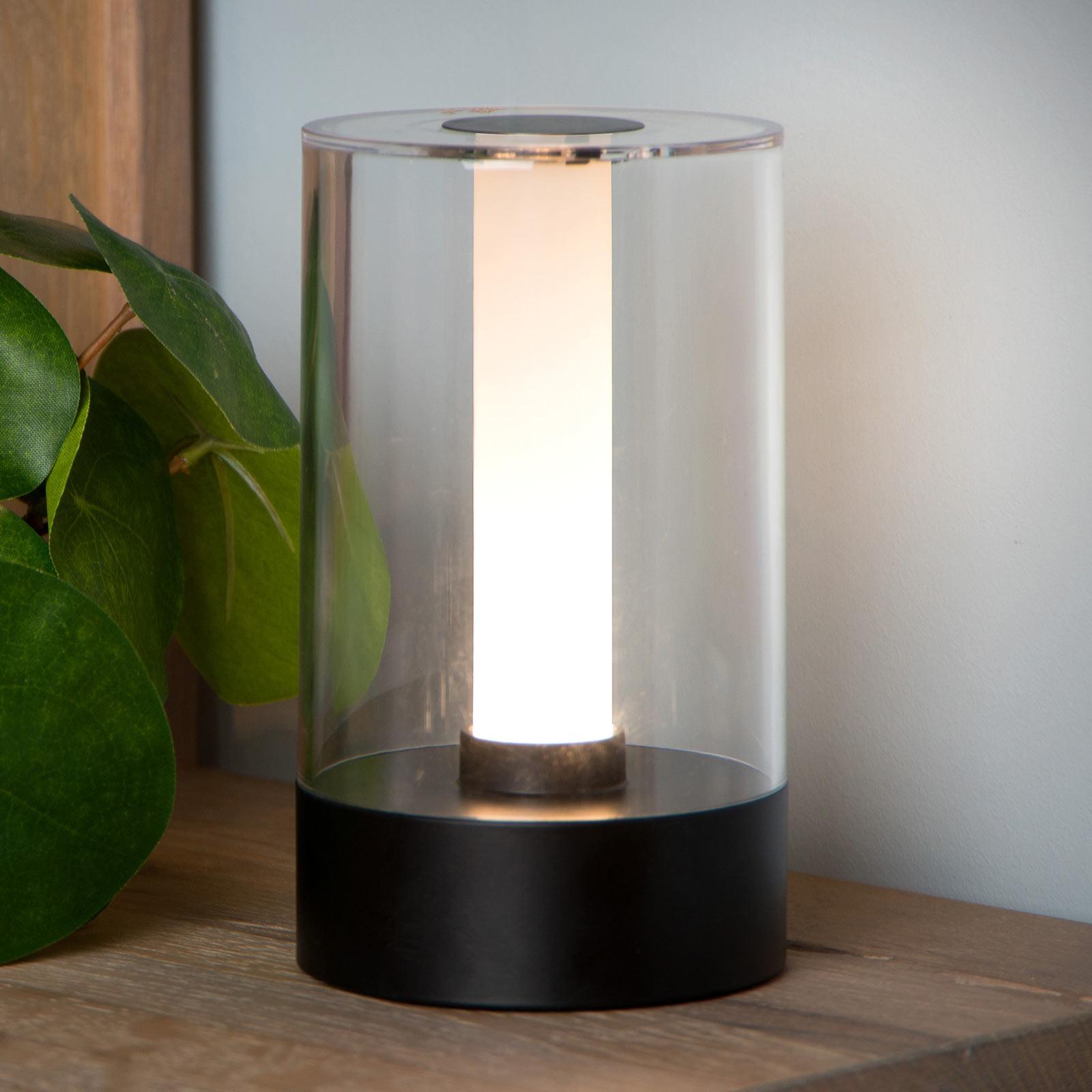 Tafellamp Tribun met accu en dimmer zwart