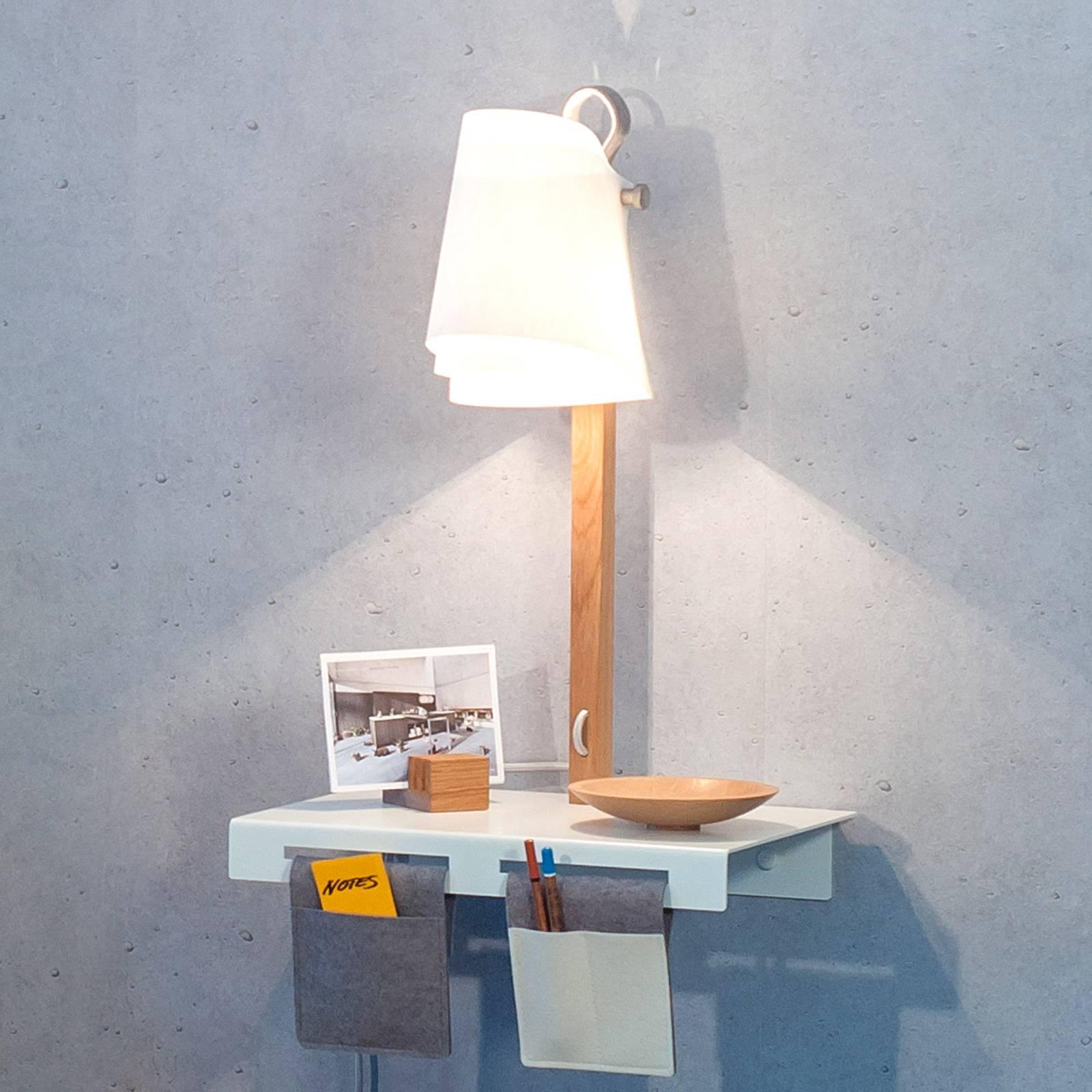 Wandlamp Fläks met legbord