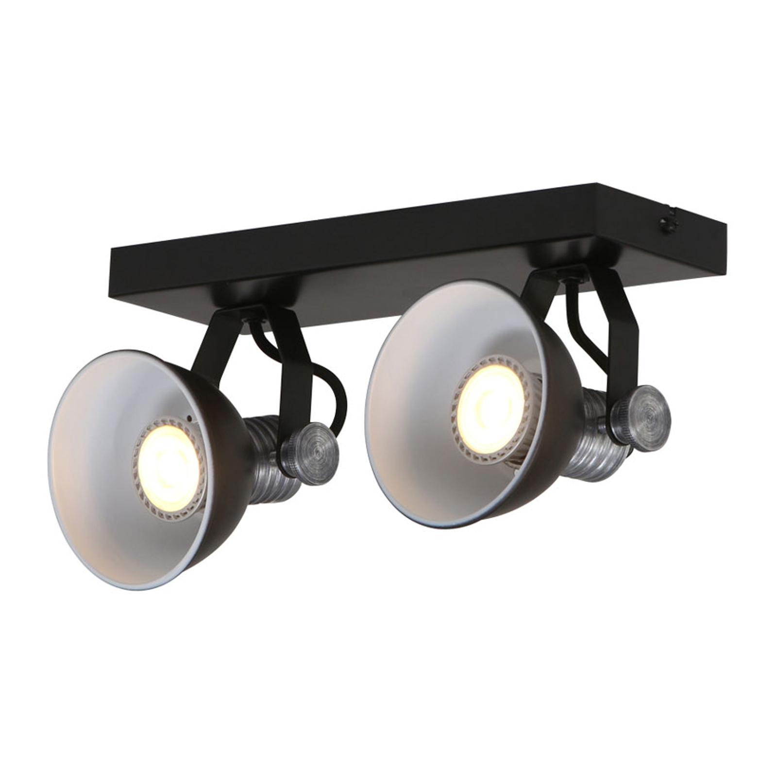 LED-takspot Brooklyn 2 lyskilder, svart