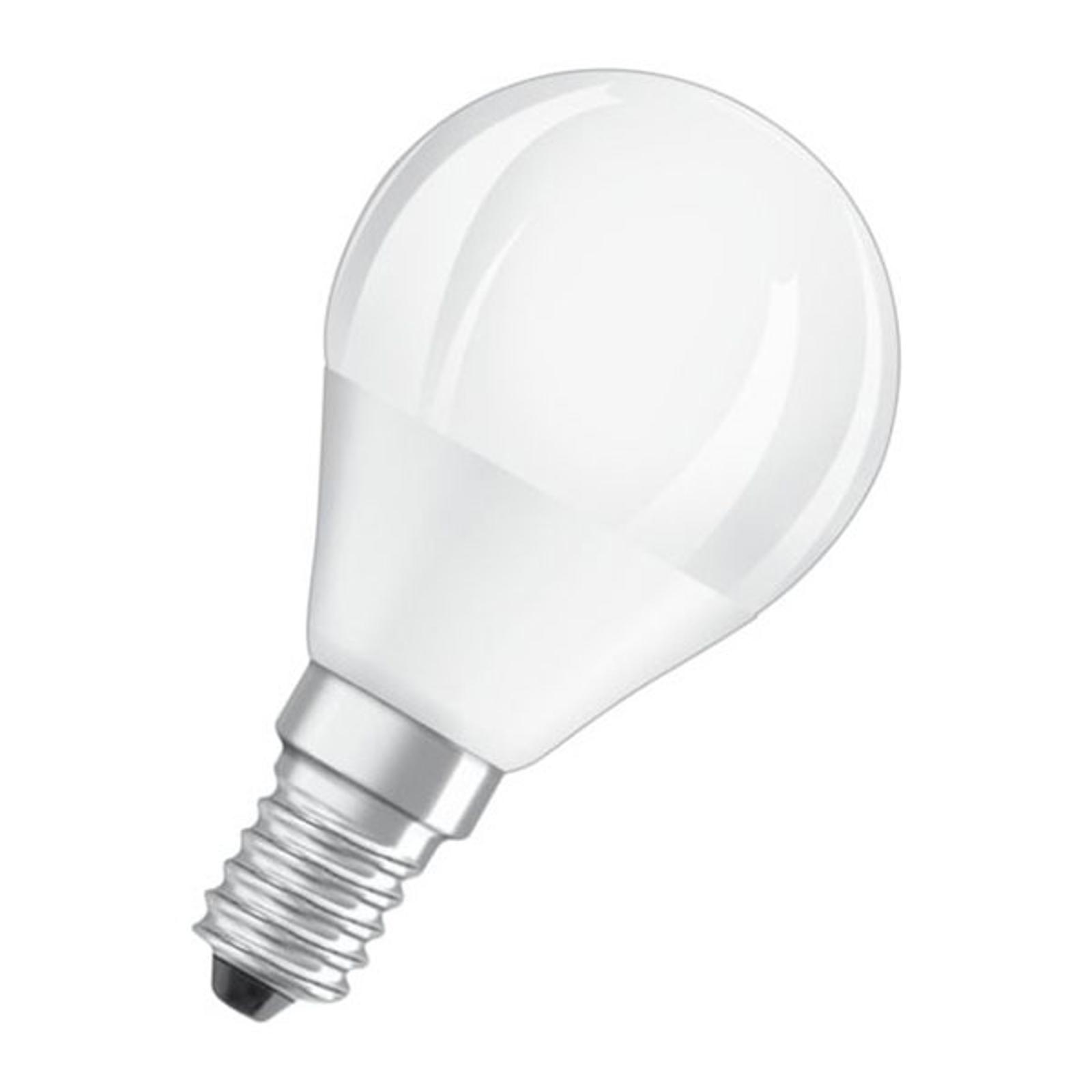 OSRAM LED-pære E14 4,5W 827 Superstar, matt dimbar