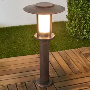 LED-sokkellampe Pavlos i rust