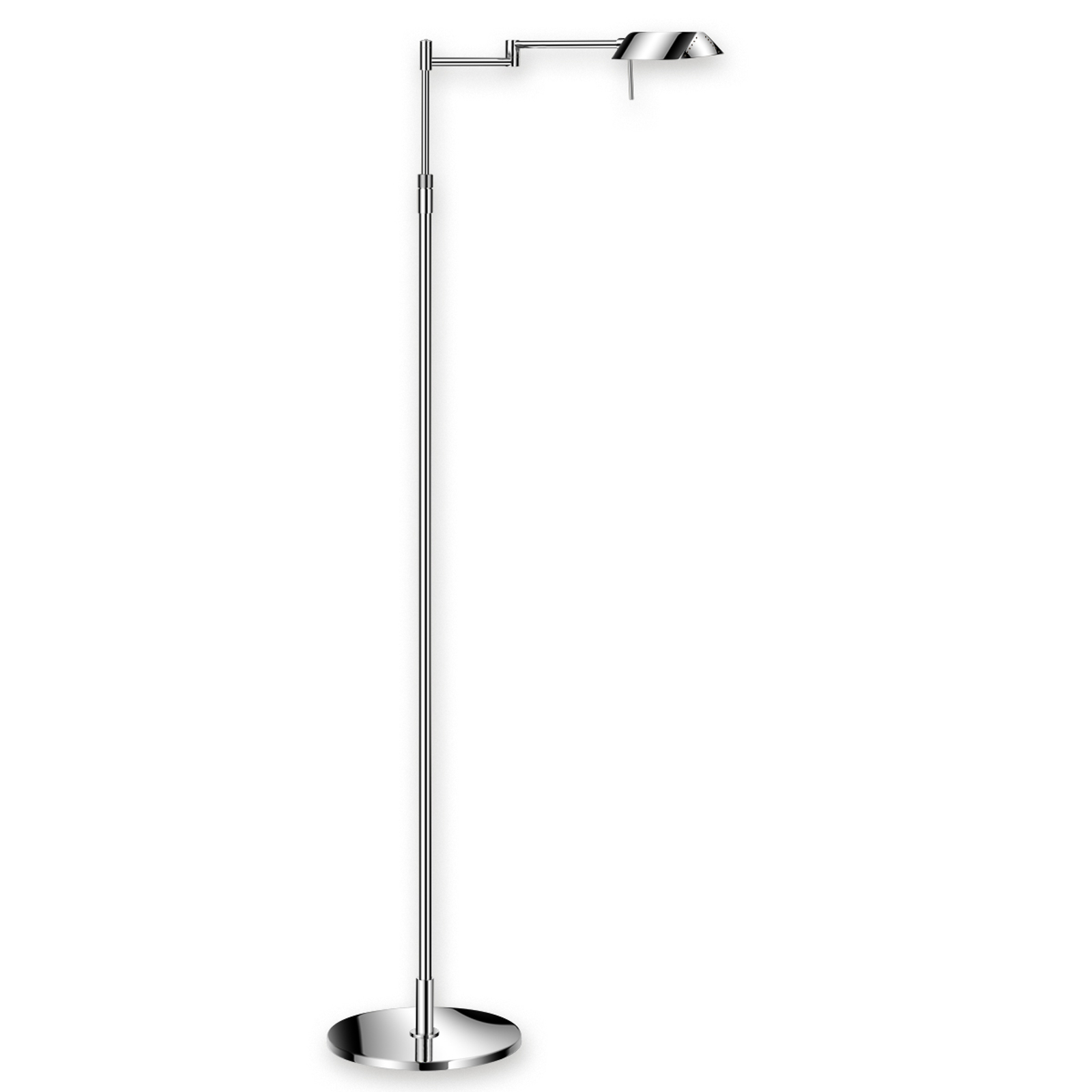 Lampadaire LED FINN raffiné chromé