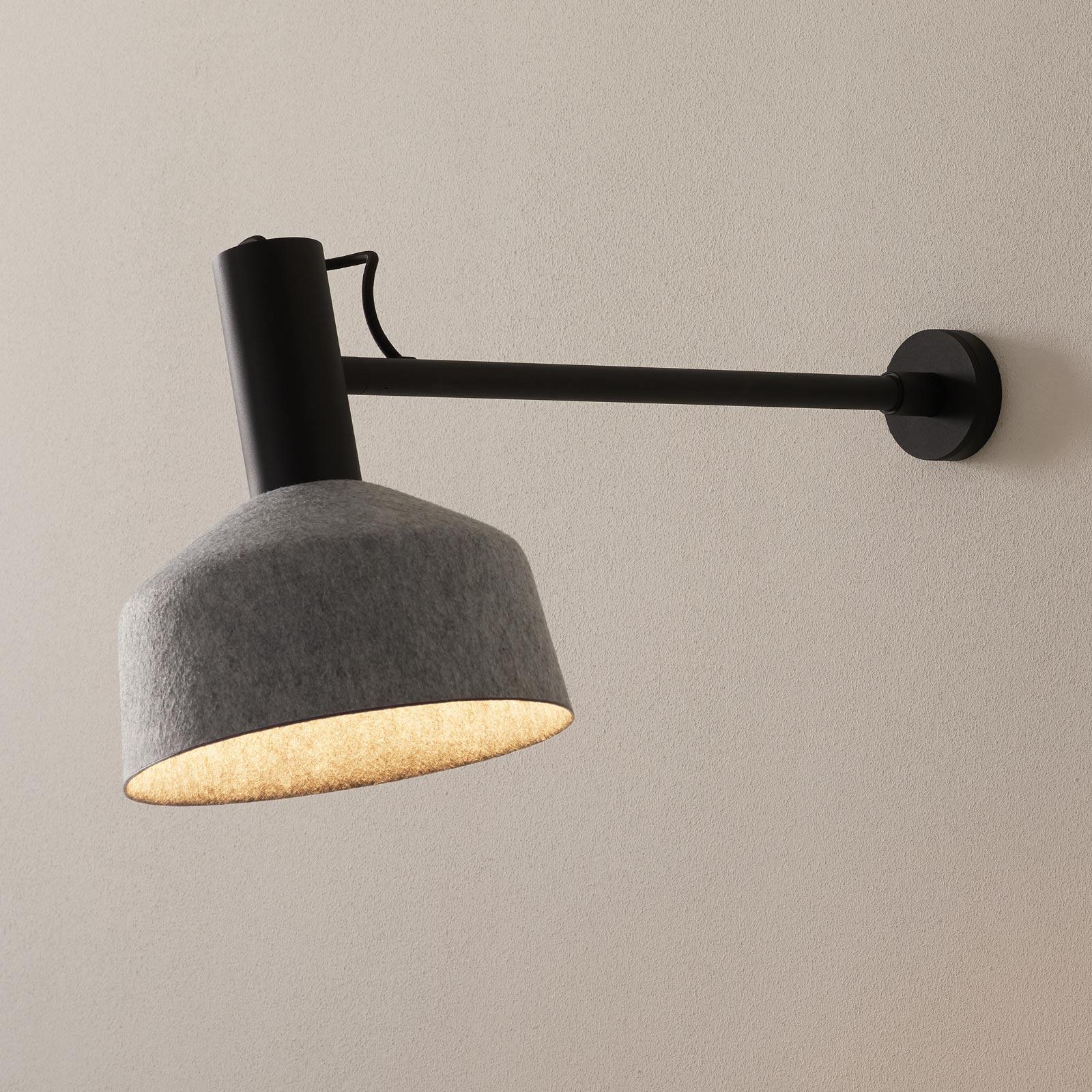 WEVER & DUCRÉ Roomor væglampe 2.0 25 cm sort-grå