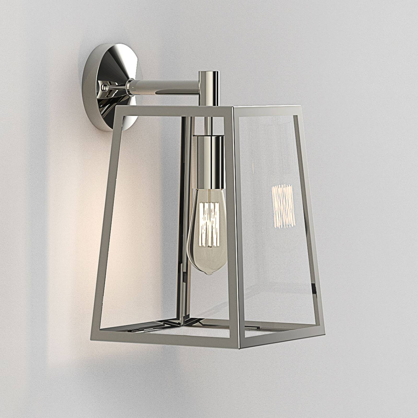 Astro Calvi - buitenwandlamp, 38,5 cm, nikkel