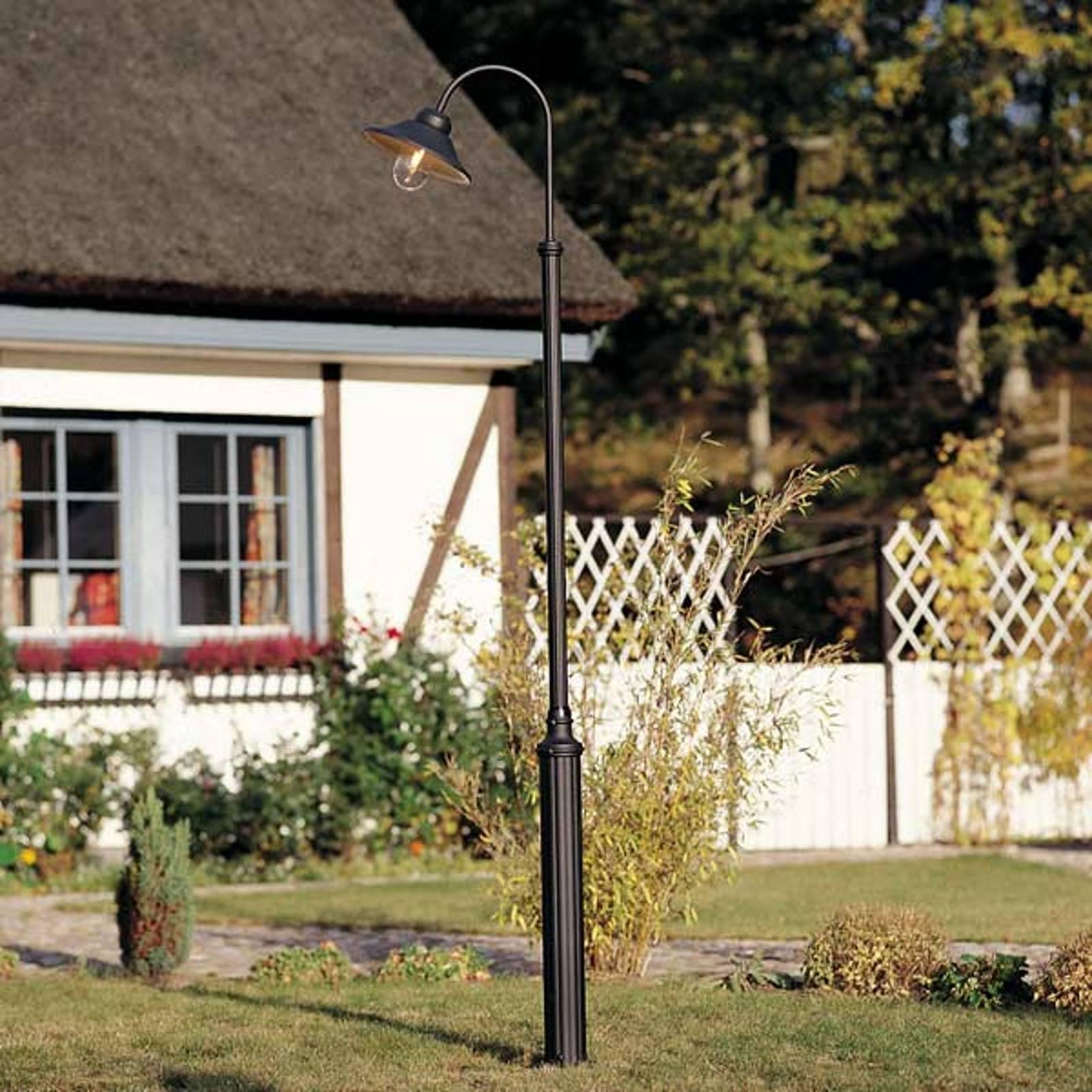 Latarnia ogrodowa Vega, czarna matowa 1-pkt. 247cm
