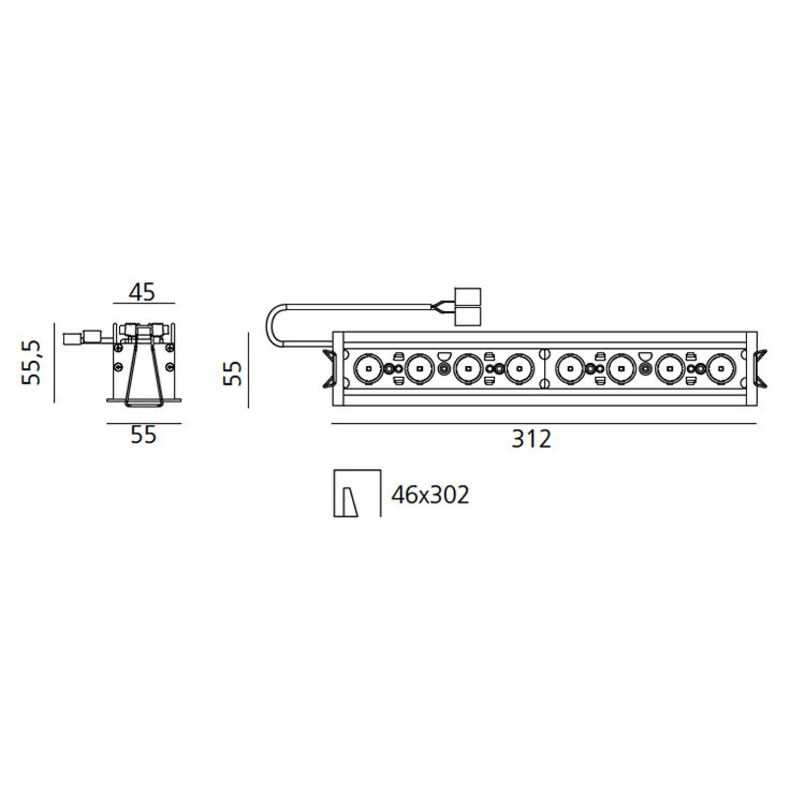 Artemide Einbaustrahler Sharp RCS TRIM 8-flg. 22W