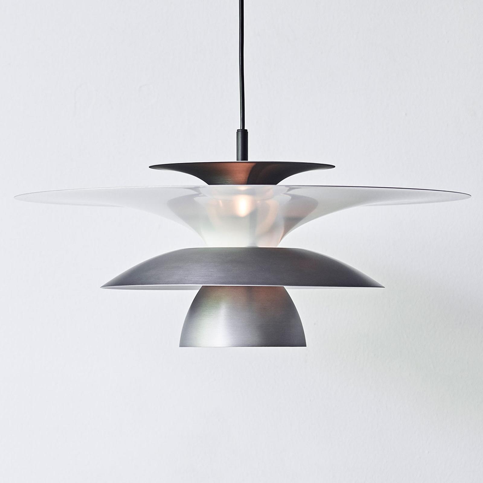 Lampa wisząca LED Picasso 1-pkt., Ø 38 cm, szara