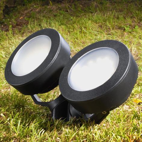Lámpara pica Tommy redondo negro 2 luces 10W CCT
