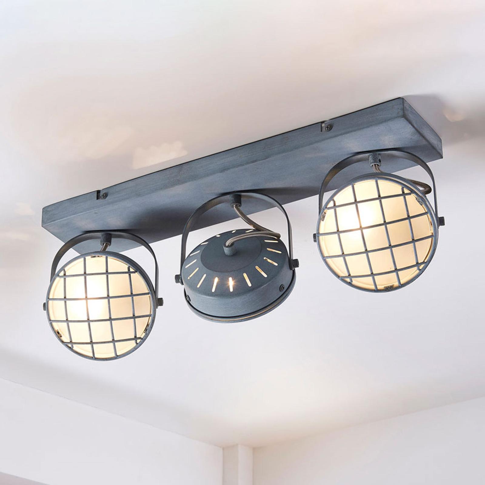 Tamin - graue LED-Deckenleuchte im Industriestil
