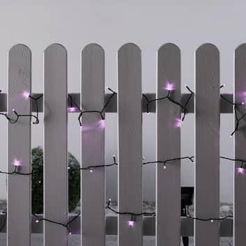 Solar LED-Lichterkette pink