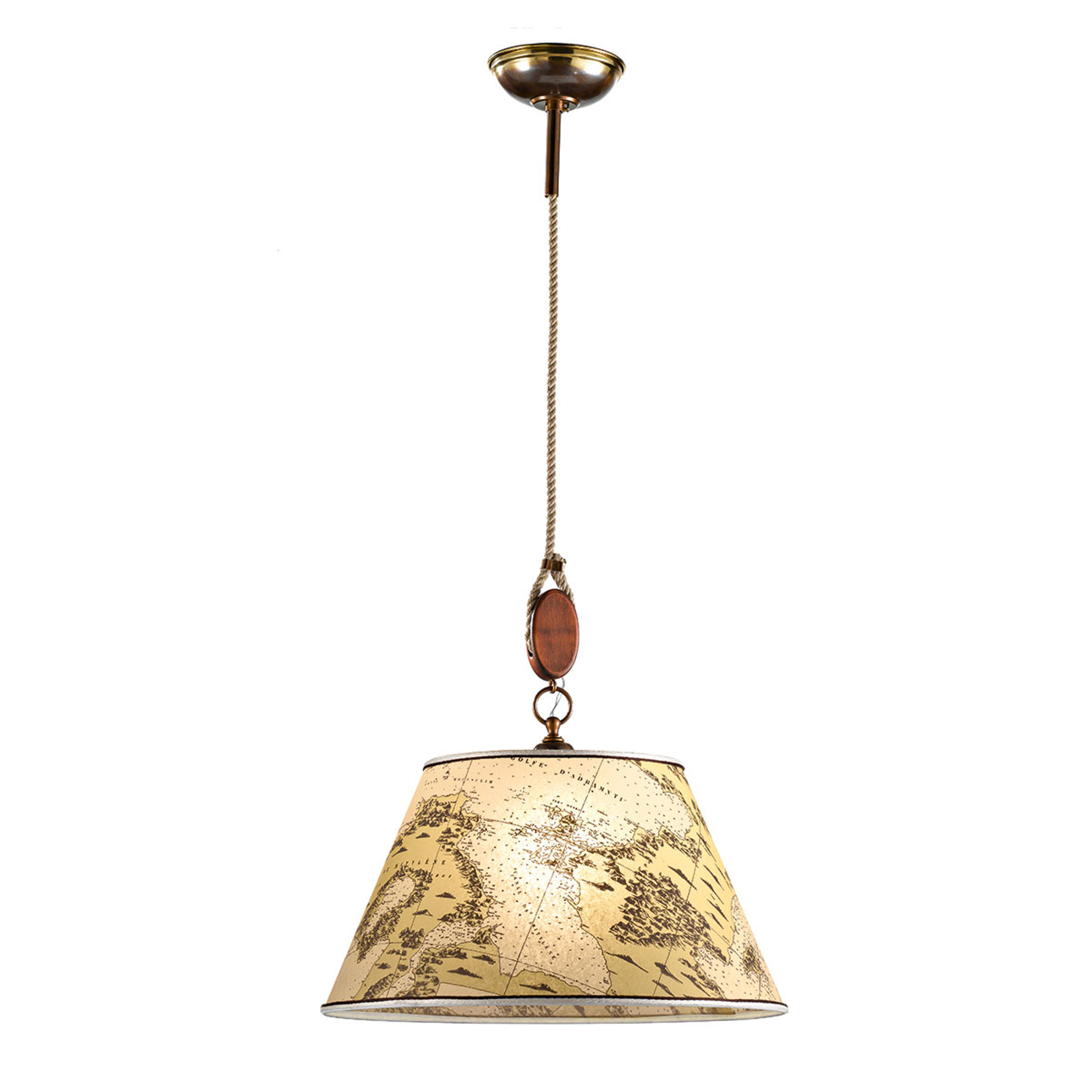 Klassisk Nautica pendellampe, 40 cm