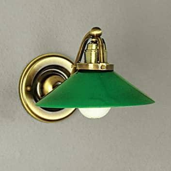 Zelené nástěnné světlo VERDINA, patinovaný vzhled